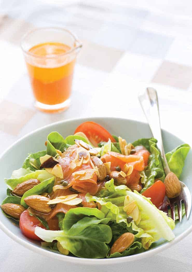 Smoked-Trout-Almond-Salad